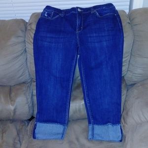 Christopher Banks cuffed capris jeans